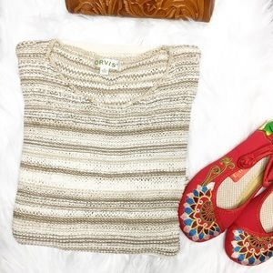 ORVIS Loose Knit Striped Sweater